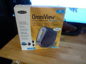 Belkin OmniView SOHO Series 2-Port KVM Switch NEW