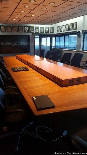 Teak Boardroom Table