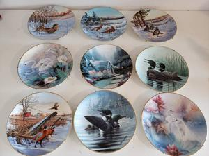 9 COLLECTOR PLATES, VARIOUS ARTISTS SERIES