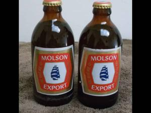 *Avoir deux (2) bouteilles ''stubby'' biere Molson