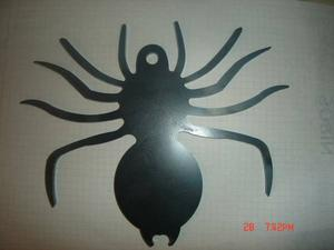 Laser cut steel spider