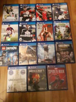 PS4 games for sale-15 in total including latest Spiderman