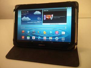 "Samsung Galaxy Tab 2 10"" tablet with case"