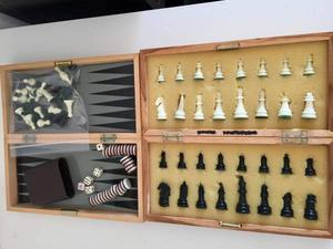Two Magnetic 11 inch Chess And Backgammon games