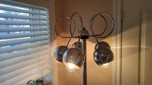 five arm table lamp / chrome eyeball space age