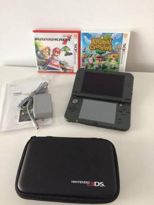 New Nintendo 3DS XL with charger, games and case