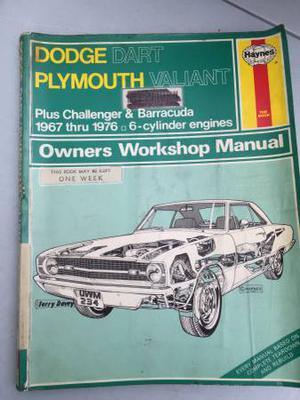 Haynes manual  Dodge Dart Plymouth valiant