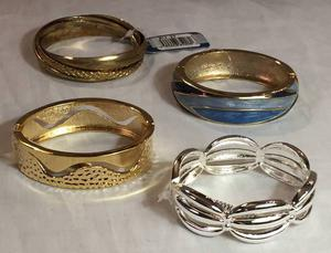 LOT of 4 BRACELETS Worth $86 Gold Blue Silver NWT