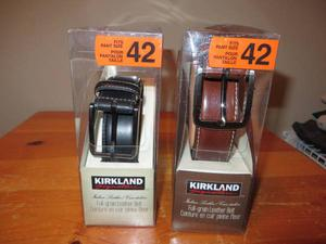Leather belt is size 42 brand new never used both for $ 60