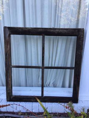 Window Frame.  x 29 antique. Worn. Shabby.