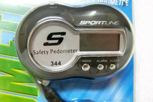 BRAND NEW SAFETY ALARM PEDOMETER