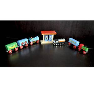 Brio Wooden Train Lot (with battery operated train)