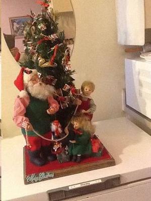 Christmas Display Santa Claus musical, mechanical
