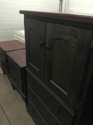 Good condition, cherry wood bedroom set
