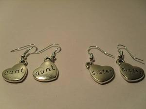 NEW Two Pairs of Women's 925 Sterling Silver Heart Earrings