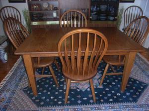 Sold oak dining room set