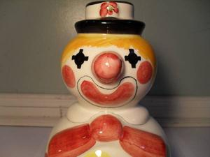 's Holt Renfrew Ceramic Clown Coin Bank Made In Italy
