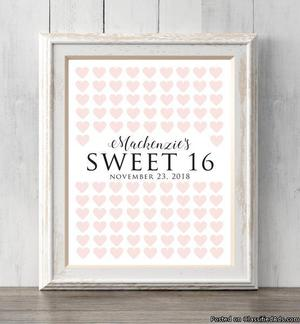 your guests to sign. Prints buy 2 get 1 free! Sweet 16 guest