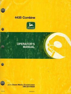 JOHN DEERE  COMBINE OPERATOR'S MANUAL