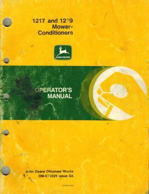 JOHN DEERE  MOWER-CONDITIONER OPERATOR'S MANUAL