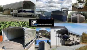Portable Metal Carport - Cover your RV - BOAT - CAR - TRUCK