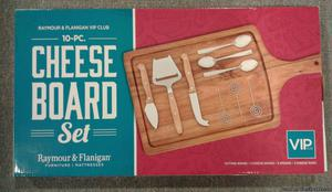 10 PIECE CHEESE BOARD SET