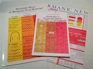German New Medicine with 2 Scientific Charts & Book