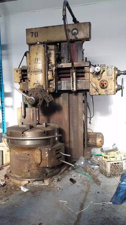 Vertical boring &turning machine 440 volt Must sell all leas