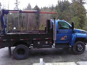 gmc topkick cx4 dump truck / plow