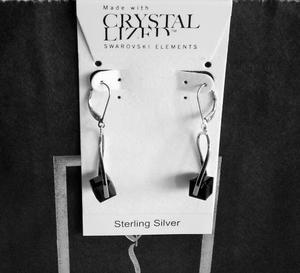 Sterling Silver + Swarovski Crystal Earrings - Brand New
