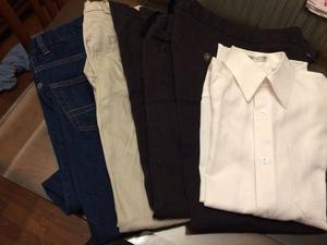 Children's Place dress pants, jeans, dress shirt (size 10)