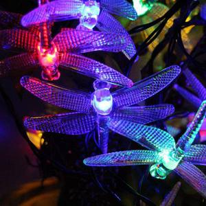 Dragonfly - 30 LED Lights [MULTI-COLOR] in 20FT - 6x AA