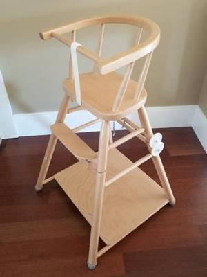 FS: 2 in 1 convertible wooden high chair