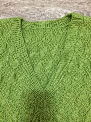 Gift exchange gifts Handmade Chunky Knit Vest (M)