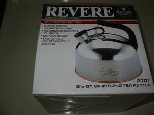 REVERE WHISTLING TEA KETTLE -- (BRAND NEW)