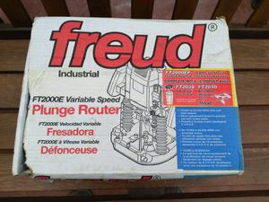 Industrial freud FTE Plunge Router with FT & FT