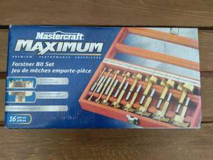 Mastercraft Maximum Forstner Bit Set 16pcs with Wooden Box