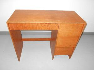 Wooden Desk with 3 Drawers on Right Side