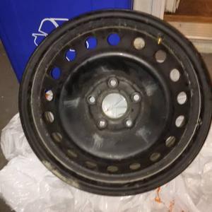 4 x 17 inch black steel rims