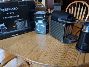 Nespresso Breville Pixie Espresso machine and Aeroccino 3