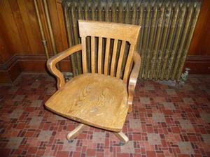 Oak office chair for sale