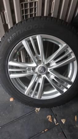 R 17 Hankook Winter Tires on Infinti Rims