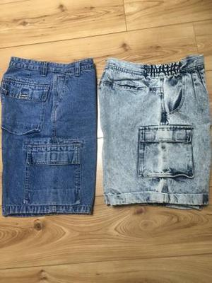 MEN'S BLUE JEAN SHORTS-GENUINE SONOMA & REPAGE JEAN SIZE 31