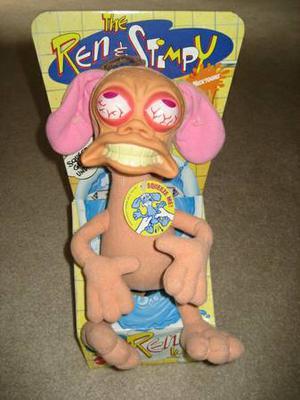 """The Ren & Stimpy Show """"Rude Toot"""" Ren Hoek Vintage Doll NEW"""