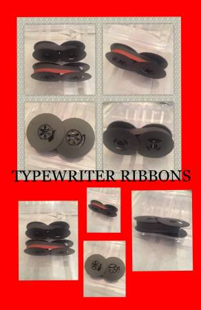 Typewriter Ribbons- New- Black/ Red Ink, Black Ink