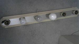 WASHROOM LAMP / BEIGE AND SILVER COLOR