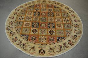 Circular Garden Pattern Rug 5'8'' diameter