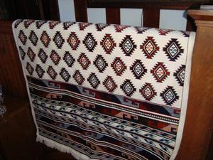 Hand woven small carpet