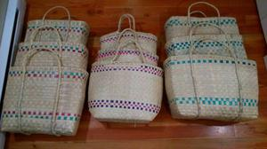 Hand Woven Basket Sets of Three (New)