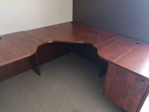 Executive corner desk with locking file and drawer $150